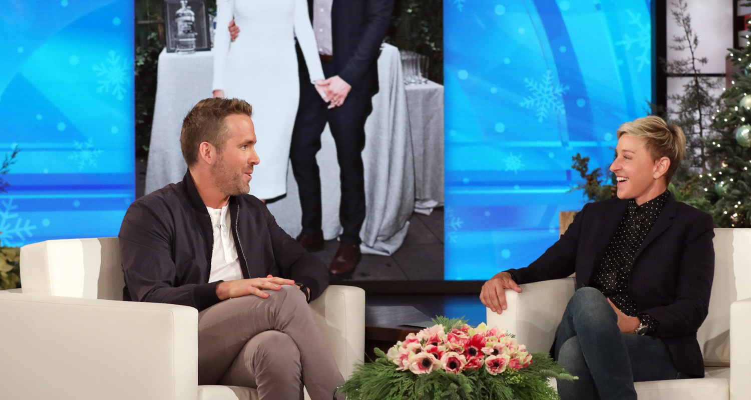 Ryan Reynolds Talks Being A Dad with 'Ellen': 'I Sort of Miss Being Horrible'