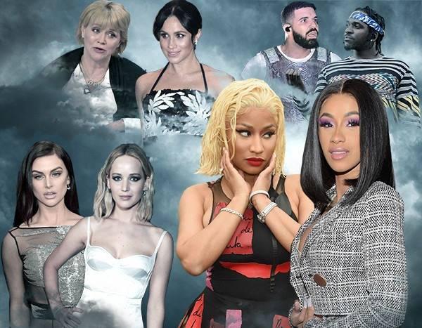 2018's Biggest Celeb Feuds: Nicki vs. Cardi, Lala vs. J-Law and More