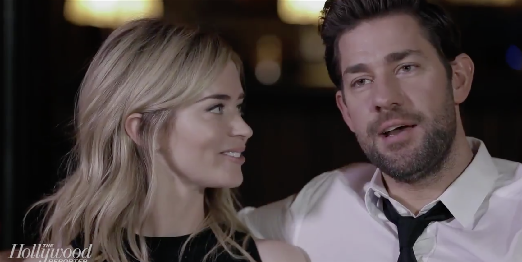This Video of Emily Blunt and John Krasinski Arguing Over Accents Is Too Cute to Handle