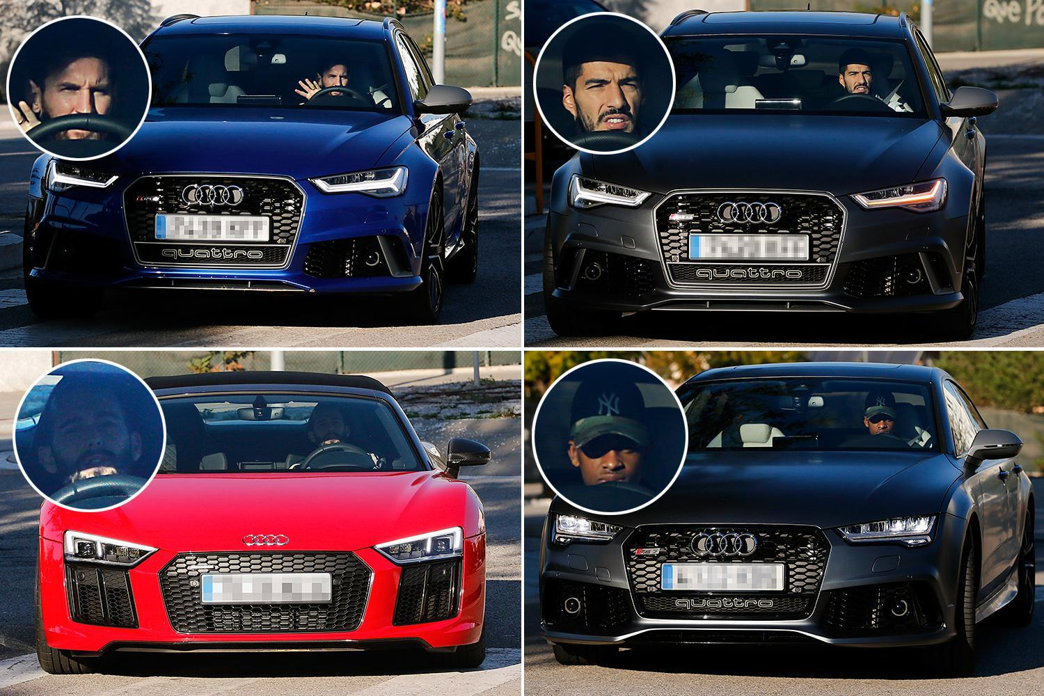 Lionel Messi, Luis Suarez, Philippe Coutinho and the rest of the Barcelona squad are so well drilled they all drive the same cars