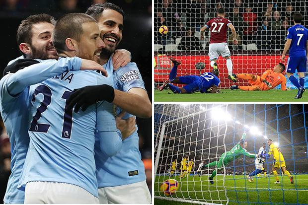 Premier League highlights: Sane's chest special helps City win again, Brighton beat rivals Palace while Bournemouth and West Ham secure victories