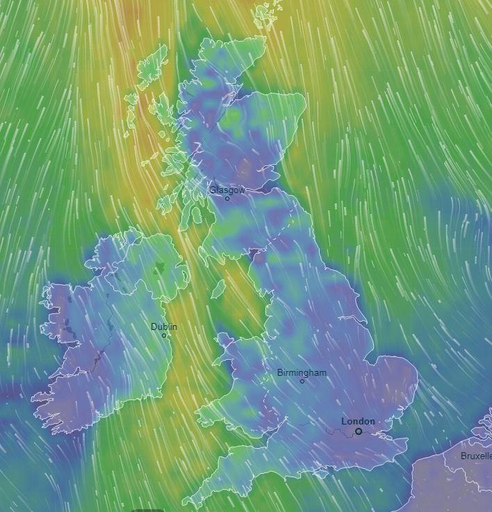 Britain to be hit with SEVEN INCHES of snow, gales and -2C temperatures on Saturday