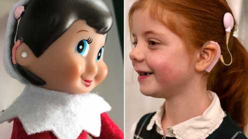 Girl with cochlear implants gets classroom elf just like her