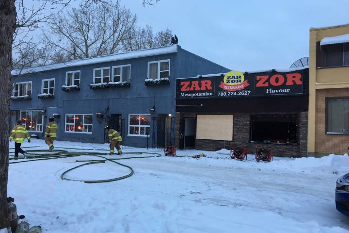 Police investigating fire at restaurant in Edmonton strip mall