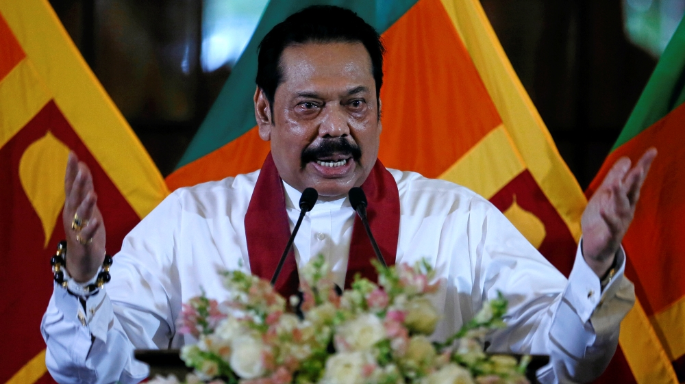 Sri Lanka temporarily bars Rajapaksa from acting as PM