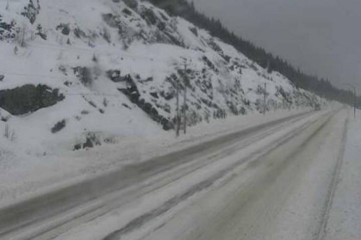 UPDATE: Compact snow, slippery sections on Coquihalla, Okanagan Connector, Trans-Canada
