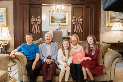 'We are very lucky because many people have nobody around' – Gay and Kathleen beam in family portraits with grandchildren