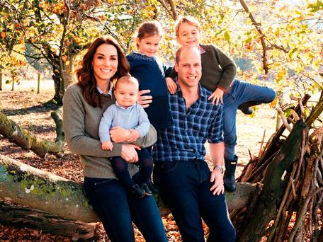 George, Charlotte and Louis take centre stage in adorable Cambridge family Christmas card