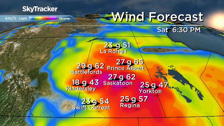 Saskatoon weather outlook: 60 km/h wind gusts as arctic air returns