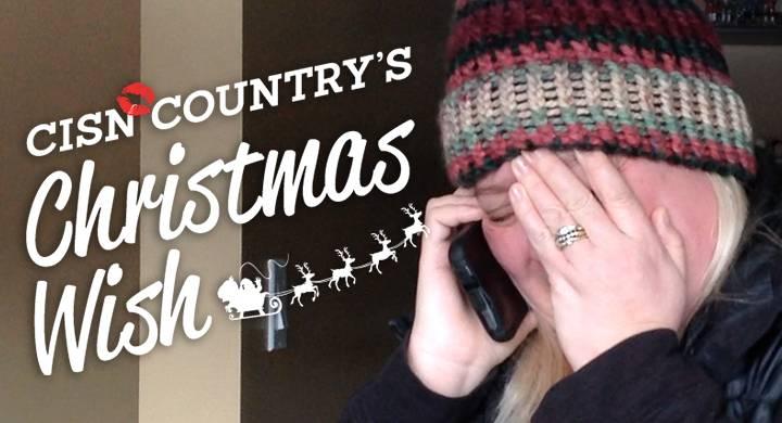 CISN Country's Christmas Wish surprises Vanessa