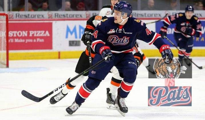 Regina Pats lose to Medicine Hat Tigers for second time in a week Saturday night