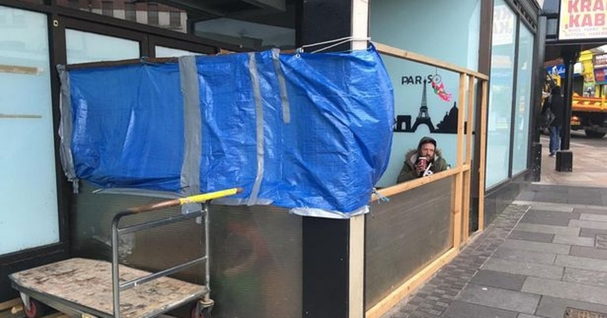 Marks & Spencer evicts homeless man who built shelter outside high street shop