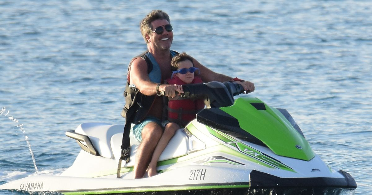 Simon Cowell speeds off into the sunset as he enjoys family break in Barbados
