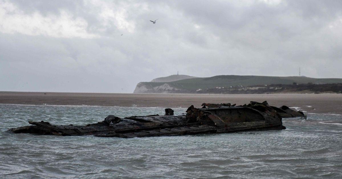 German WW1 submarine 'sunk by crew' resurfaces off French coast near Calais