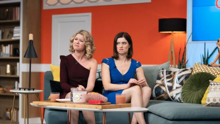 Beyond the many laughs of Get Krack!n is a deadly satire of morning TV