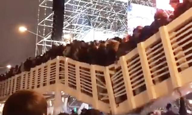 Crowded bridge collapses leaving 13 injured in Moscow's Gorky Park