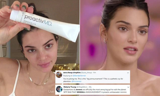 Kendall Jenner's big announcement: Model is spokesperson for Proactiv