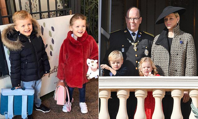 Princess Charlene shares sweet snap of twins' first day back at school
