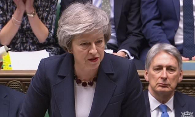 May slams threats and abuse hurled at MPs outside Parliament