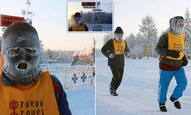 Runners compete in world's coldest race in -61F temperatures in Russia