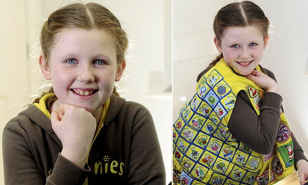 A Brownie, 10, has achieved all 58 badges – one more than anyone else