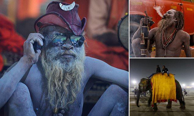 Holy men prepare to greet 12 million Hindu worshippers