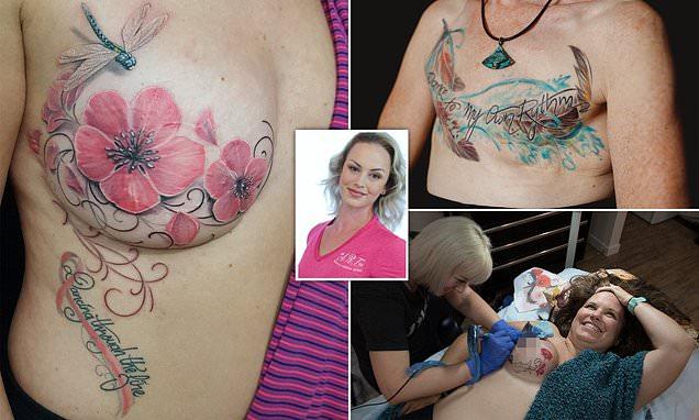 Canadian tattoo artist Samantha Rae Carniato covers mastectomy scars