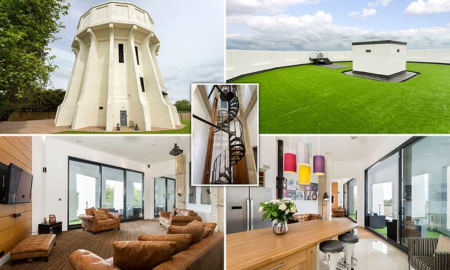 Liquid asset! 75ft water tower transformed into six-bed home on Ch4