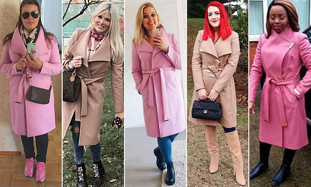 Ted Baker Sandra wrap coat is most popular coat on Instagram