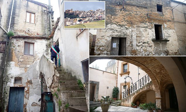Mayor of Sicilian town selling homes for 90p shows off properties