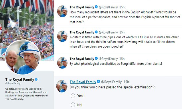 Royal family's Twitter account confuses with bizarre quiz questions