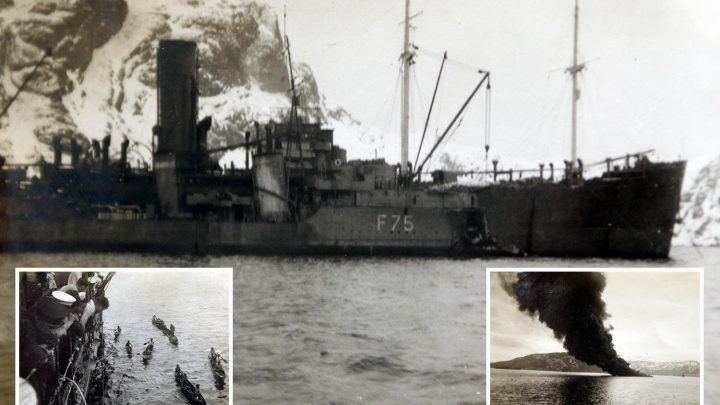 Horror of WW2 U-boat attacks on British ships captured in stark and stunning photographs