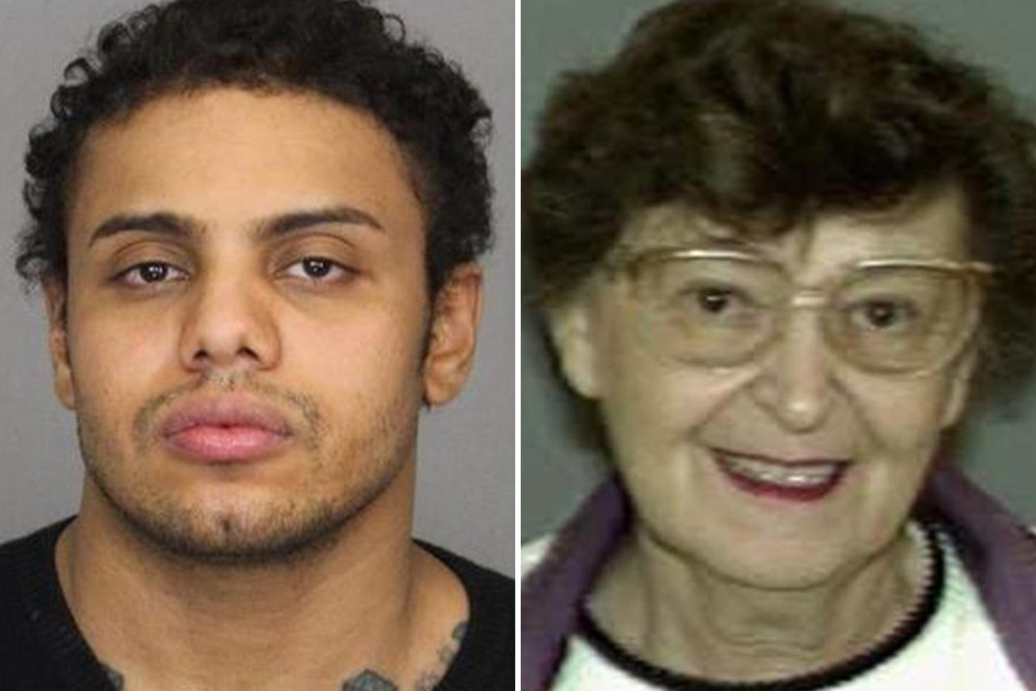 Maniac 'killed his 90-year-old grandmother chopped her up then shared video of him dumping her body on Facebook'