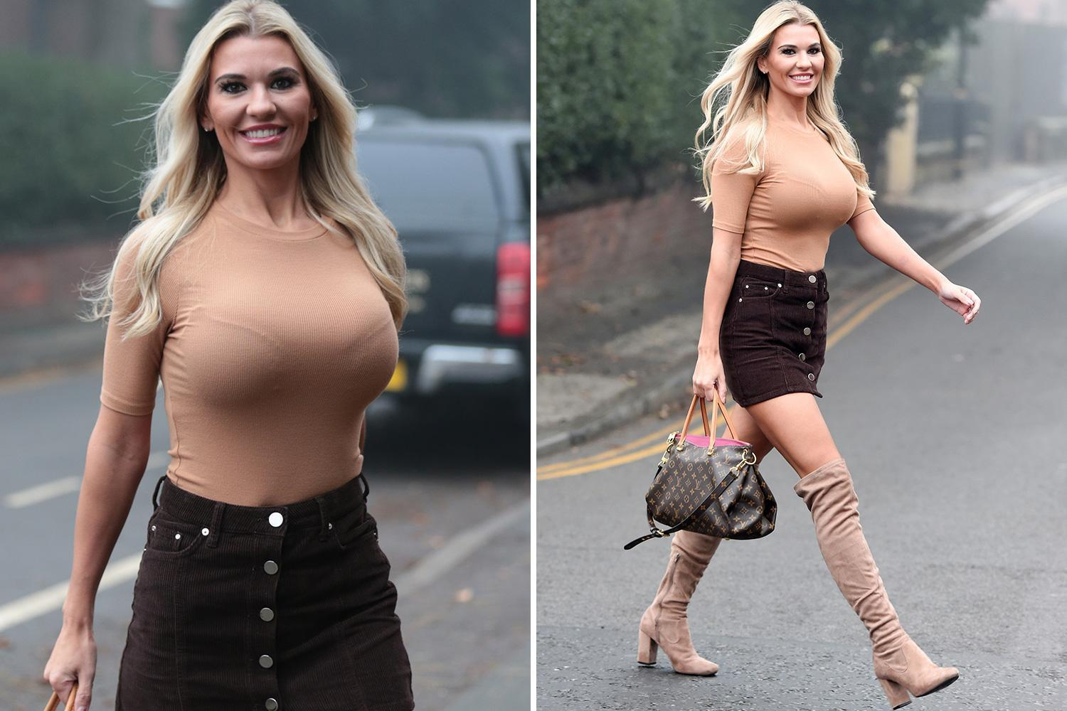 Christine McGuinness reveals her curves in tight fitting ensemble despite claiming she's put on a stone in weight