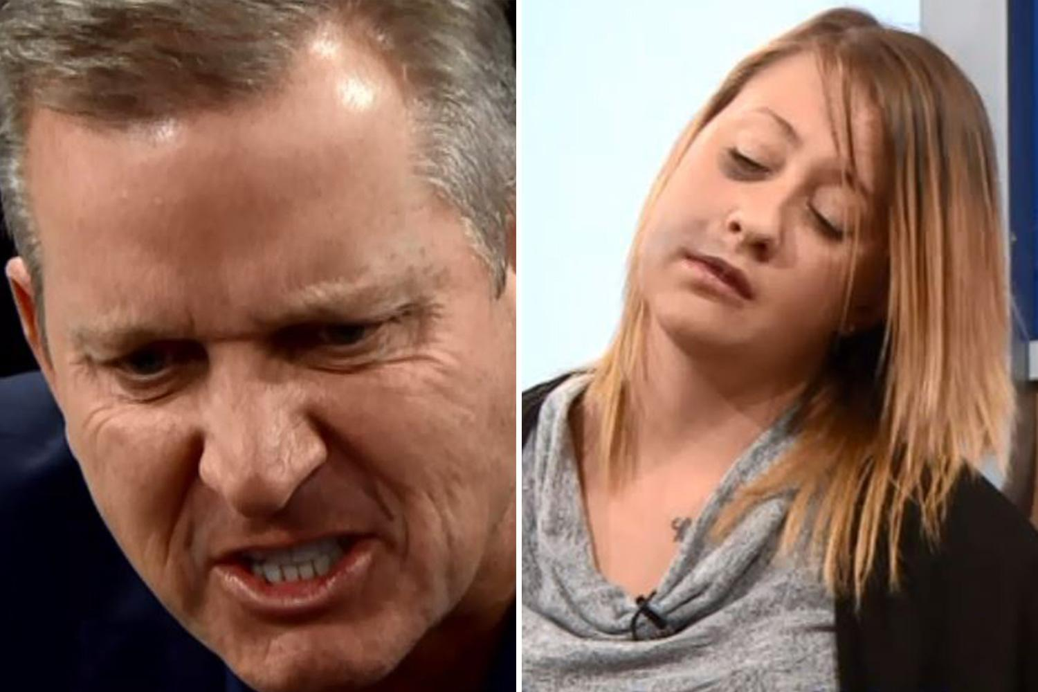 Jeremy Kyle Show viewers shocked as former swimmer admits she drinks two litres of vodka a day, sells her body to pay for booze and drives her car while drunk