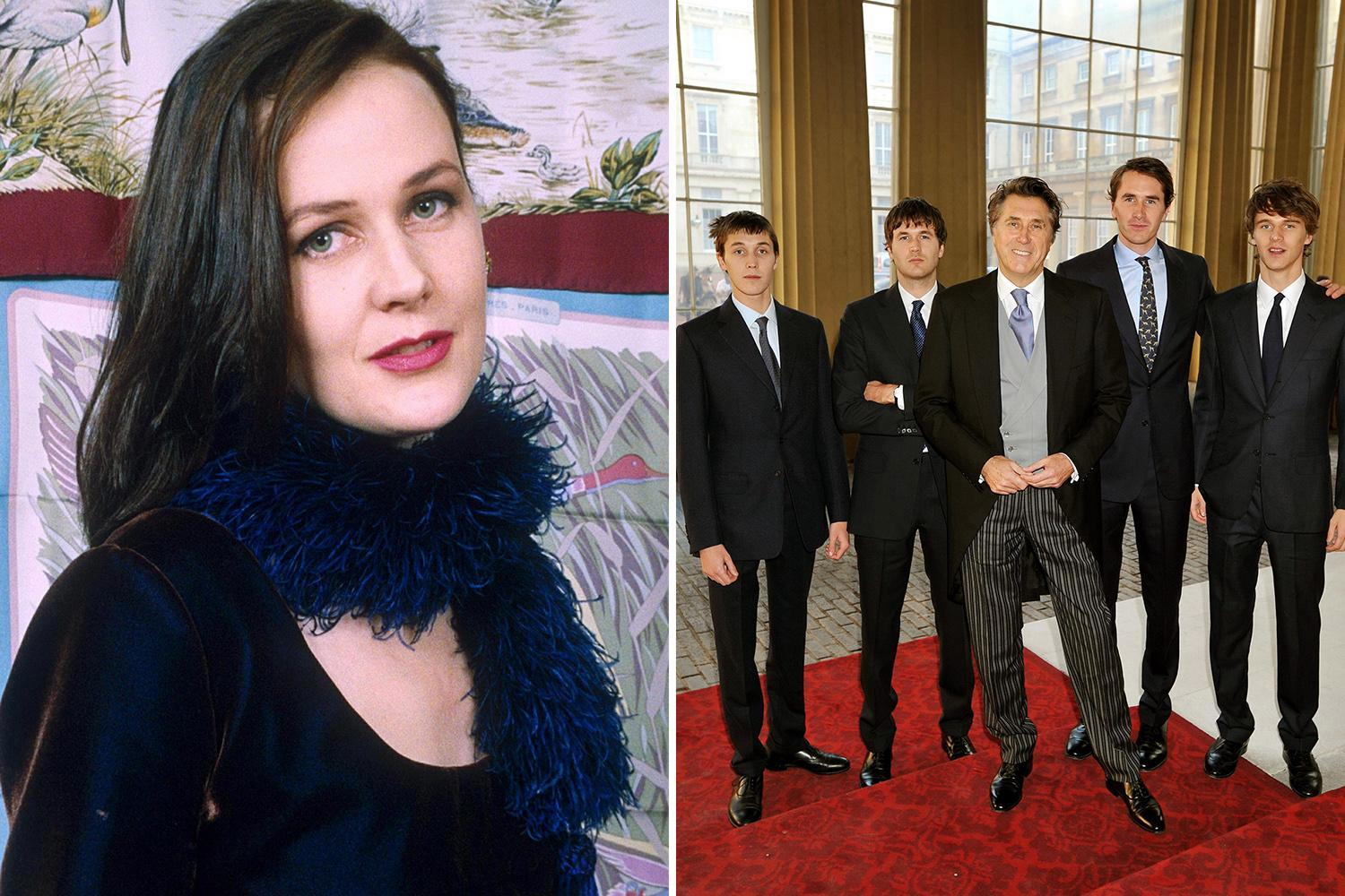Bryan Ferry's four sons left £3.5million by his ex-wife Lucy Birley after her suicide aged 58 but she left nothing to her husband Robin