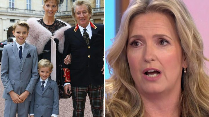 Penny Lancaster thought her seven-year-old son was DEAD after she found him unconscious at the bottom of the stairs