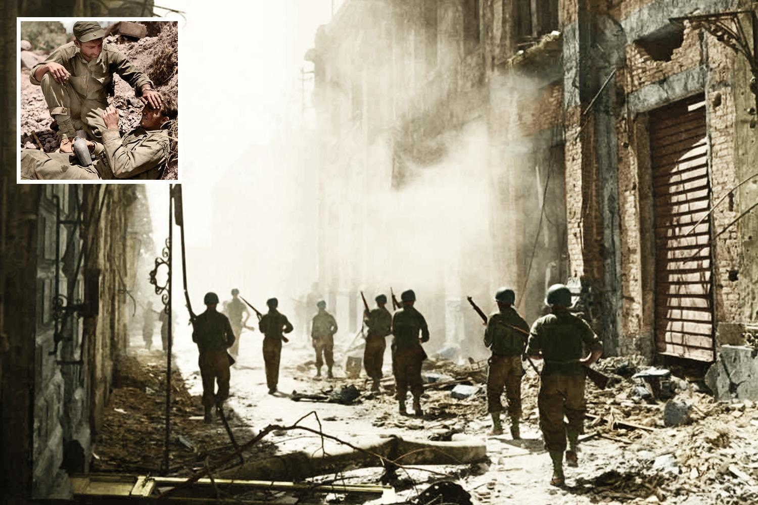 Brutal reality of World War Two captured in stunning colourised images
