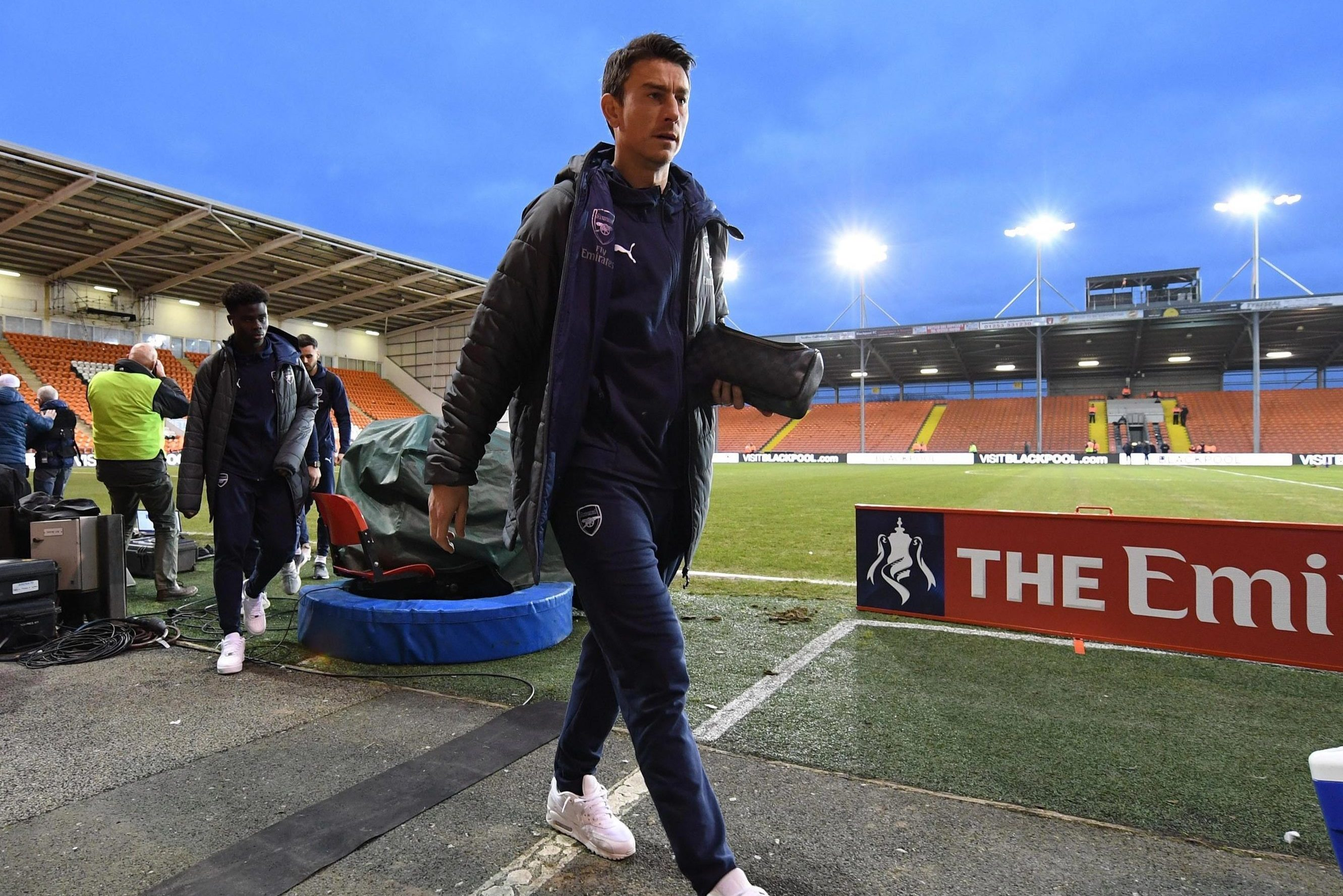 Koscielny pulls out of Blackpool clash at last minute with another injury