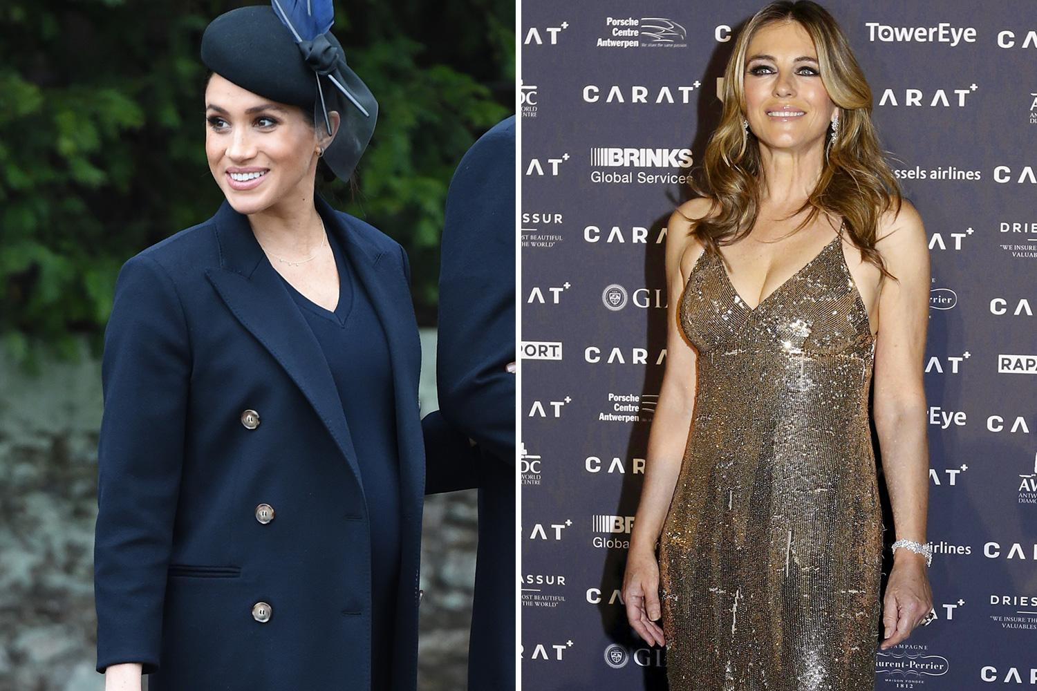Meghan Markle reveals she reached out to 'girl crush' The Royals star Liz Hurley a year before meeting Prince Harry