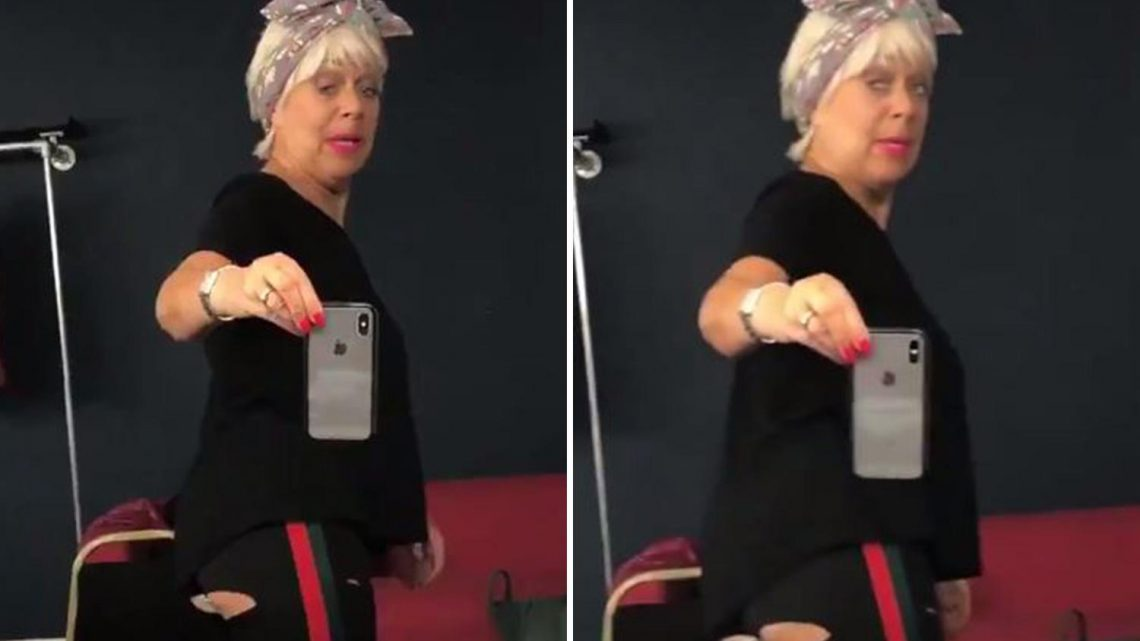 Denise Welch shares video of her bum exploding out of £5 trousers warning 'You get what you pay for'