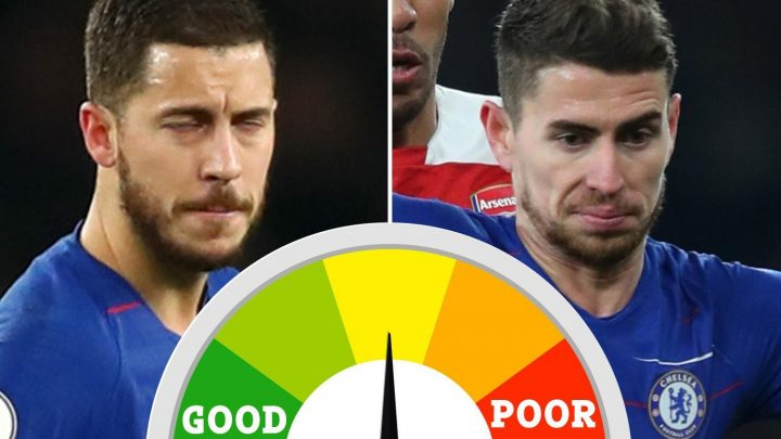 Chelsea player ratings: Eden Hazard cuts a lonely figure and Blues back four all at sea