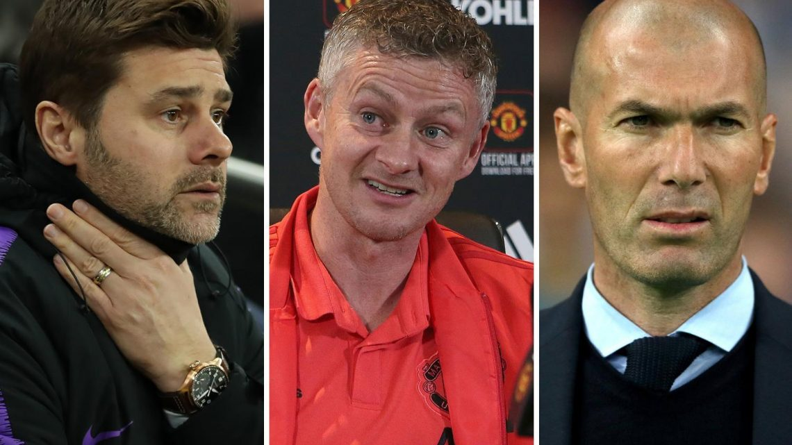 How the managers on Man Utd's shortlist compare as Southgate joins Zidane, Pochettino and Solskjaer among contenders