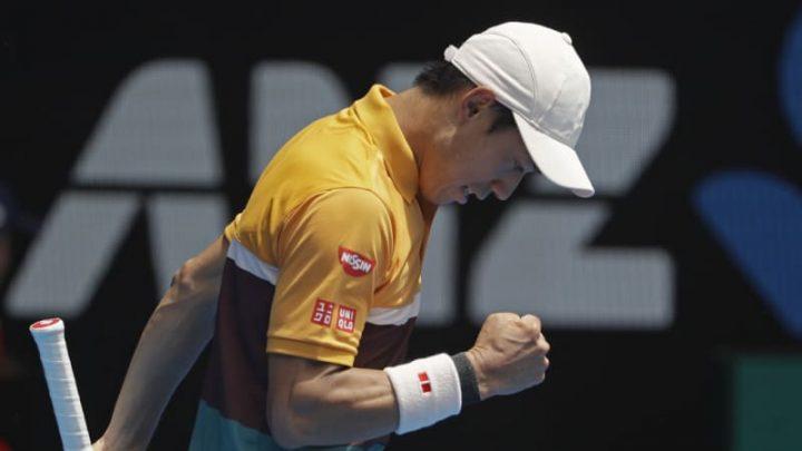 Nishikori survives scare to advance to second round