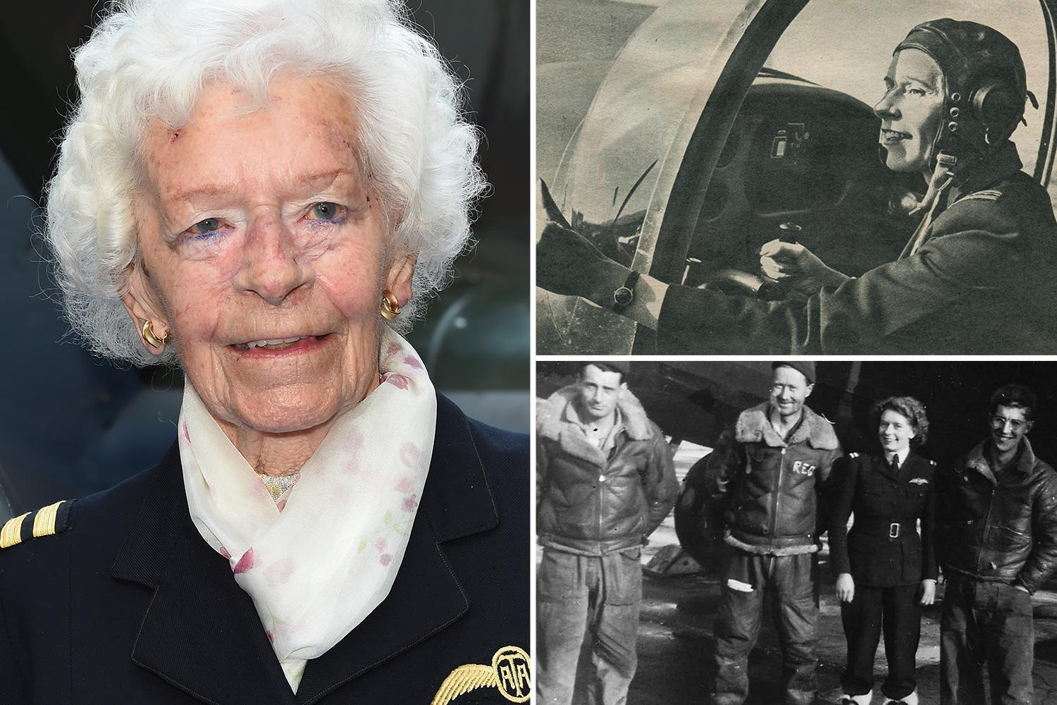 Amazing real-life story of the female spitfire pilot who lived to 101 after surviving Nazi bombs and crash landings