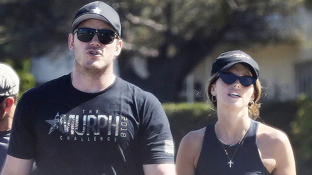 Chris Pratt & Katherine Schwarzenegger Show Off Beach Bods On Vacation With Her Family
