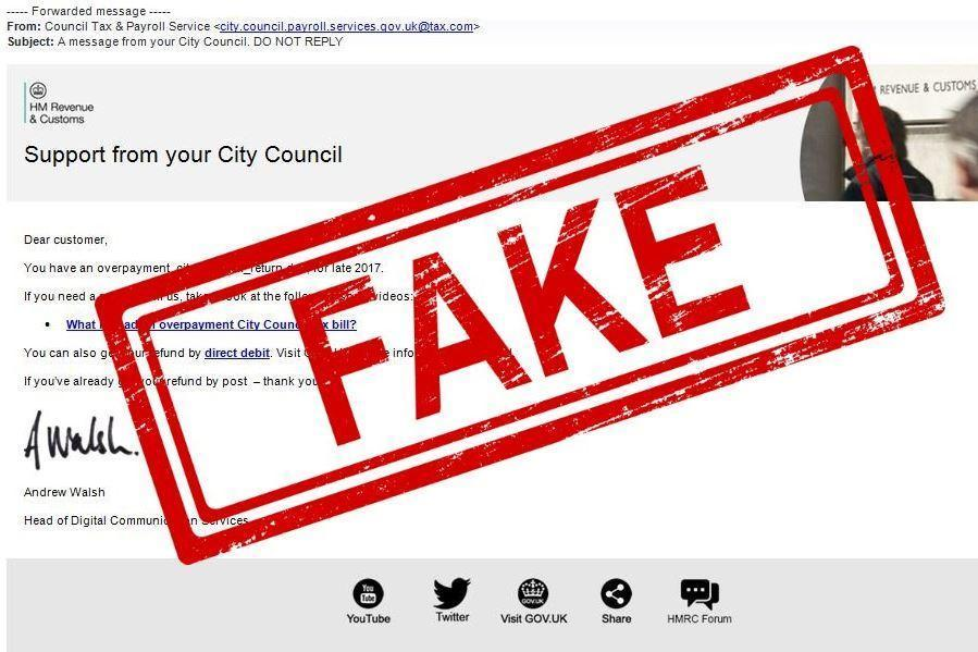 Fake Council Tax refund emails could con you into handing over bank details