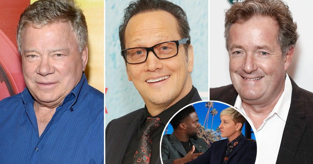 Rob Schneider, William Shatner Side with Ellen DeGeneres After Her Kevin Hart Interview
