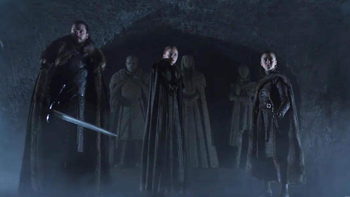 A New 'Game of Thrones' Teaser Shows Jon, Arya, and Sansa Together