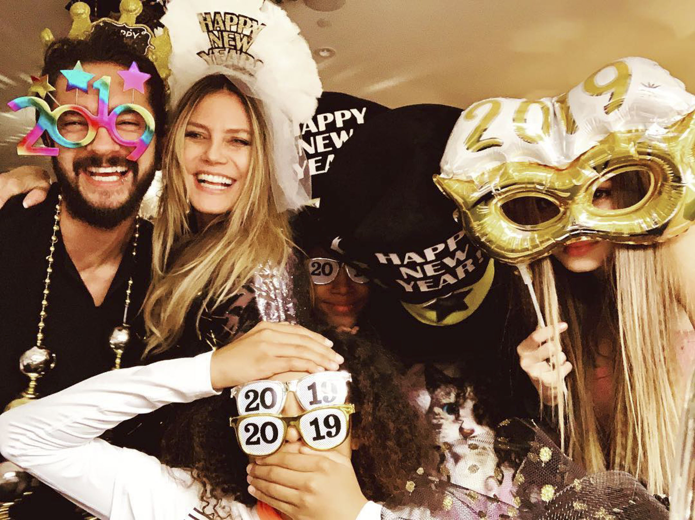 Heidi Klum and New Fiancé Tom Kaulitz Celebrate New Year's Eve a Week After Announcing Engagement